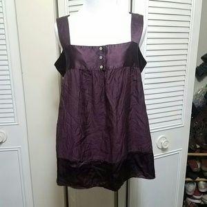 M Silk Blend Purple Joie Tank Top